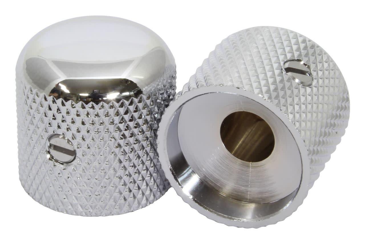 """Dome knob Chrome 1/4"""" Shaft-1"""