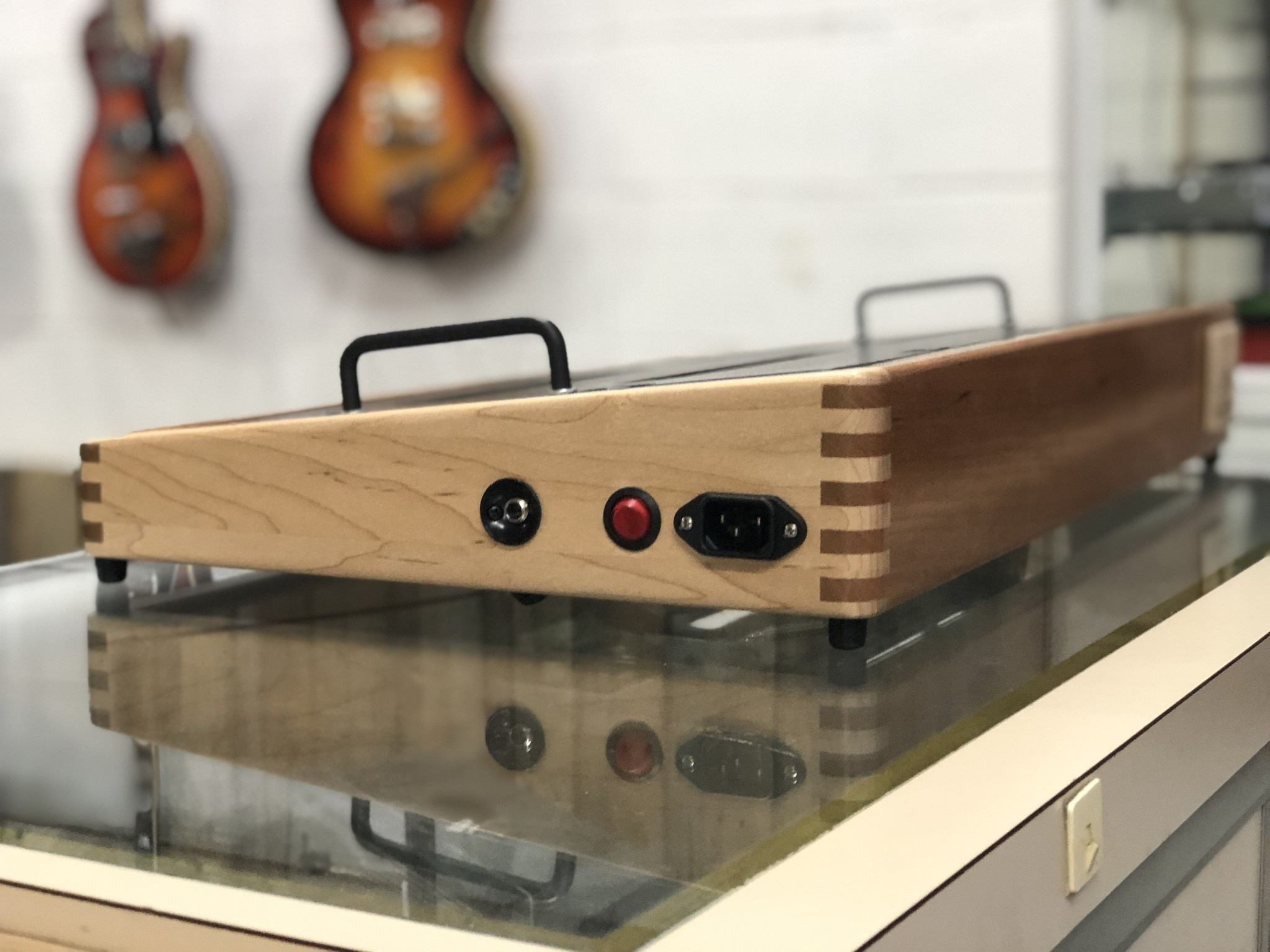 """Indy String Theory 24""""x14"""" Cherry/Maple Pedalboard  S/N. 15-3"""