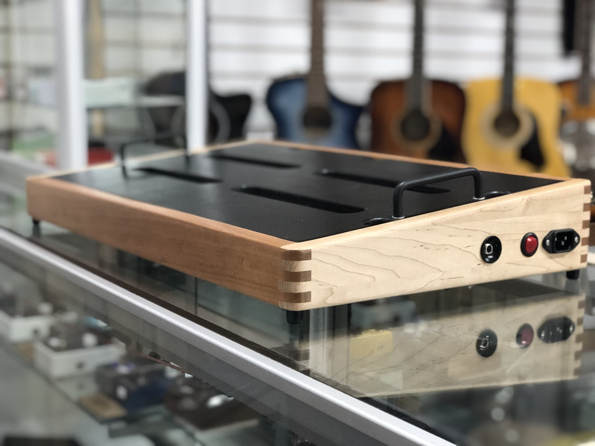 """Indy String Theory 24""""x14"""" Cherry/Maple Pedalboard  S/N. 15-4"""