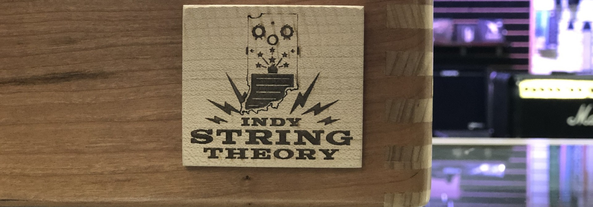 """Indy String Theory 24""""x14"""" Cherry/Maple Pedalboard  S/N. 15"""