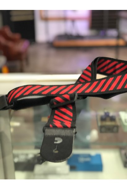D'addario  Blk/Red Diagonal