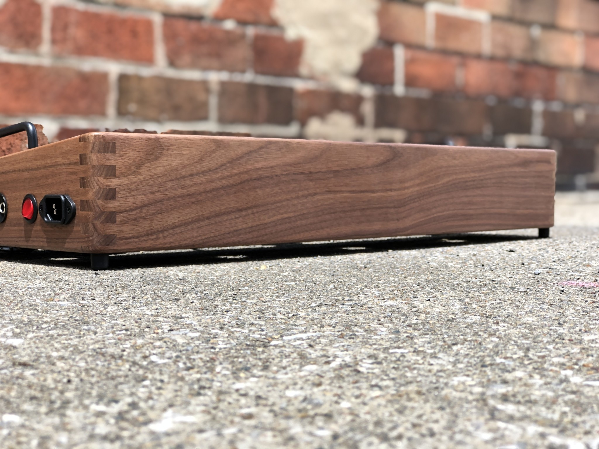 "Indy String Theory Walnut 24""x14"" Pedalboard S/N. 22-1"