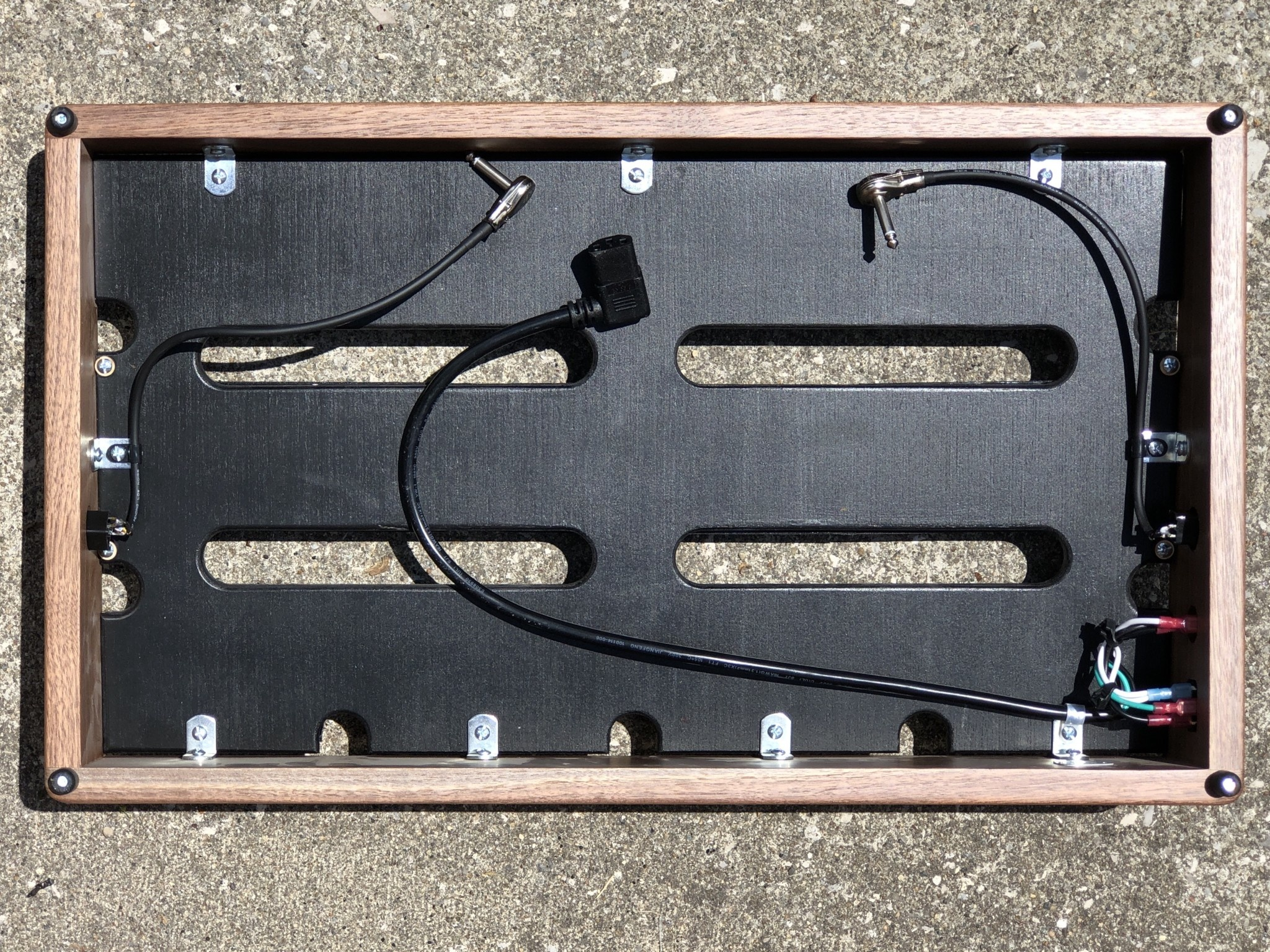 "Indy String Theory Walnut 24""x14"" Pedalboard S/N. 22-5"
