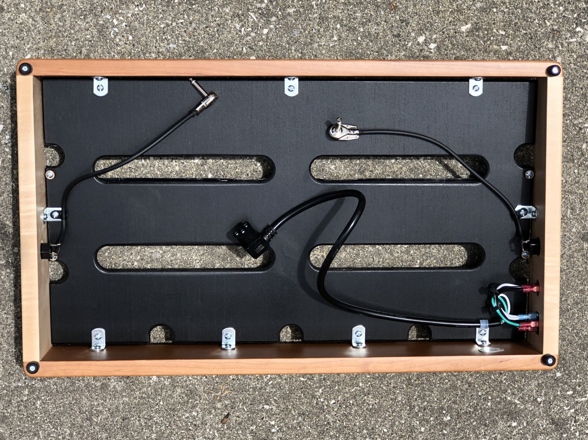 "Indy String Theory Cherry/Maple 24""x14"" Pedalboard S/N. 23-9"