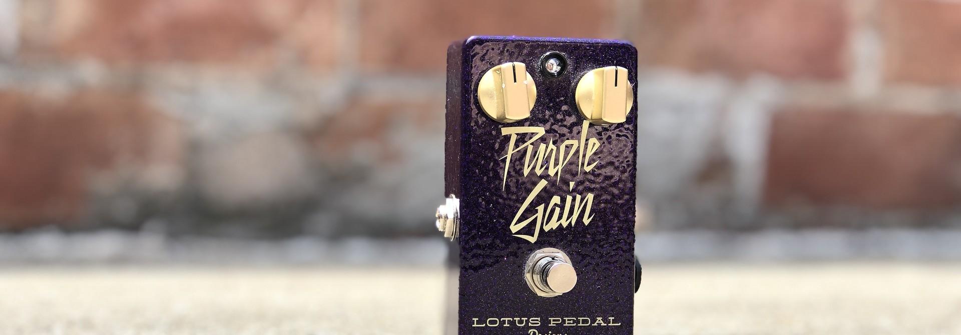 Lotus Pedals Purple Gain