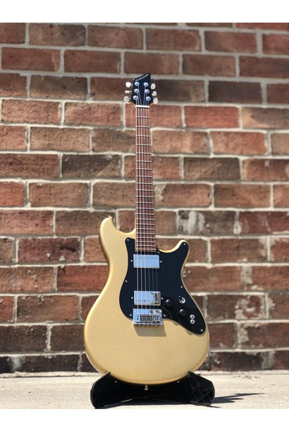 Schroeder Double Cutaway Gold Electric Guitar #90896