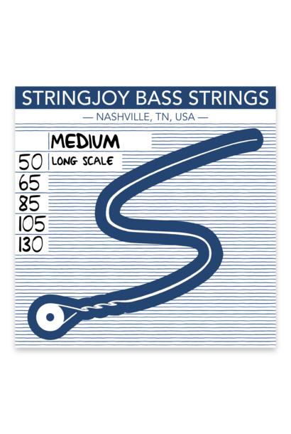 Stringjoy Bass Medium 5-string Bass Strings (50-130) SJ-BA50130