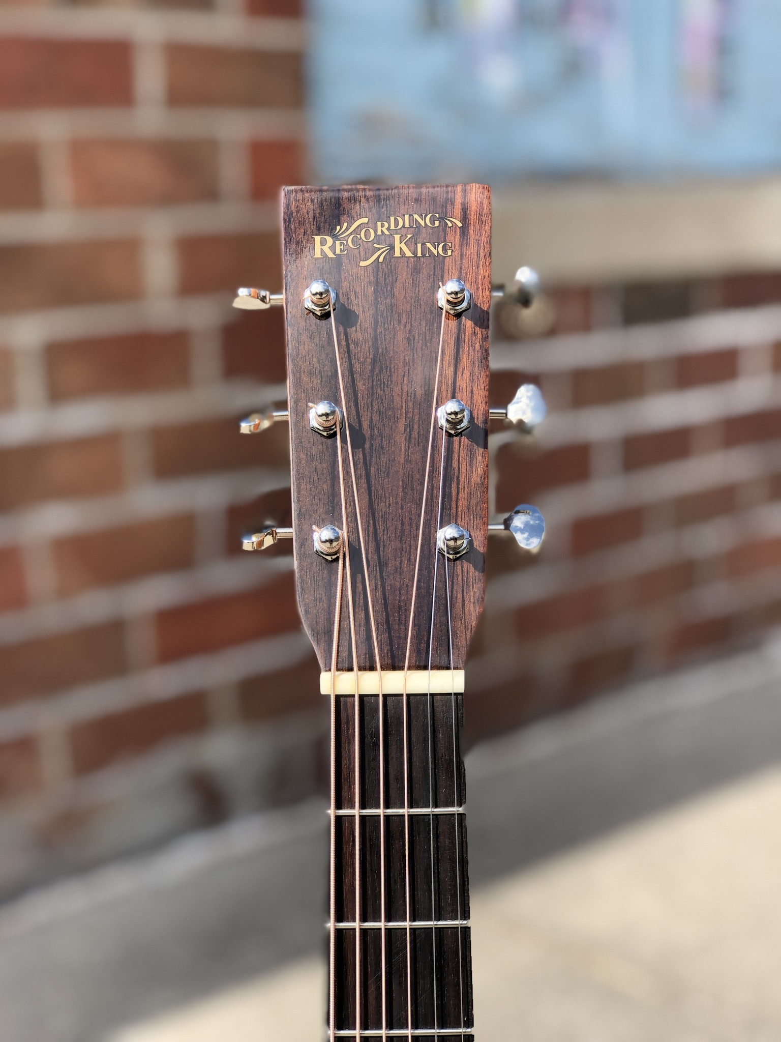 Recording King RD-T16 Torrefied Adirondack Spruce Solid Top Dreadnought-5