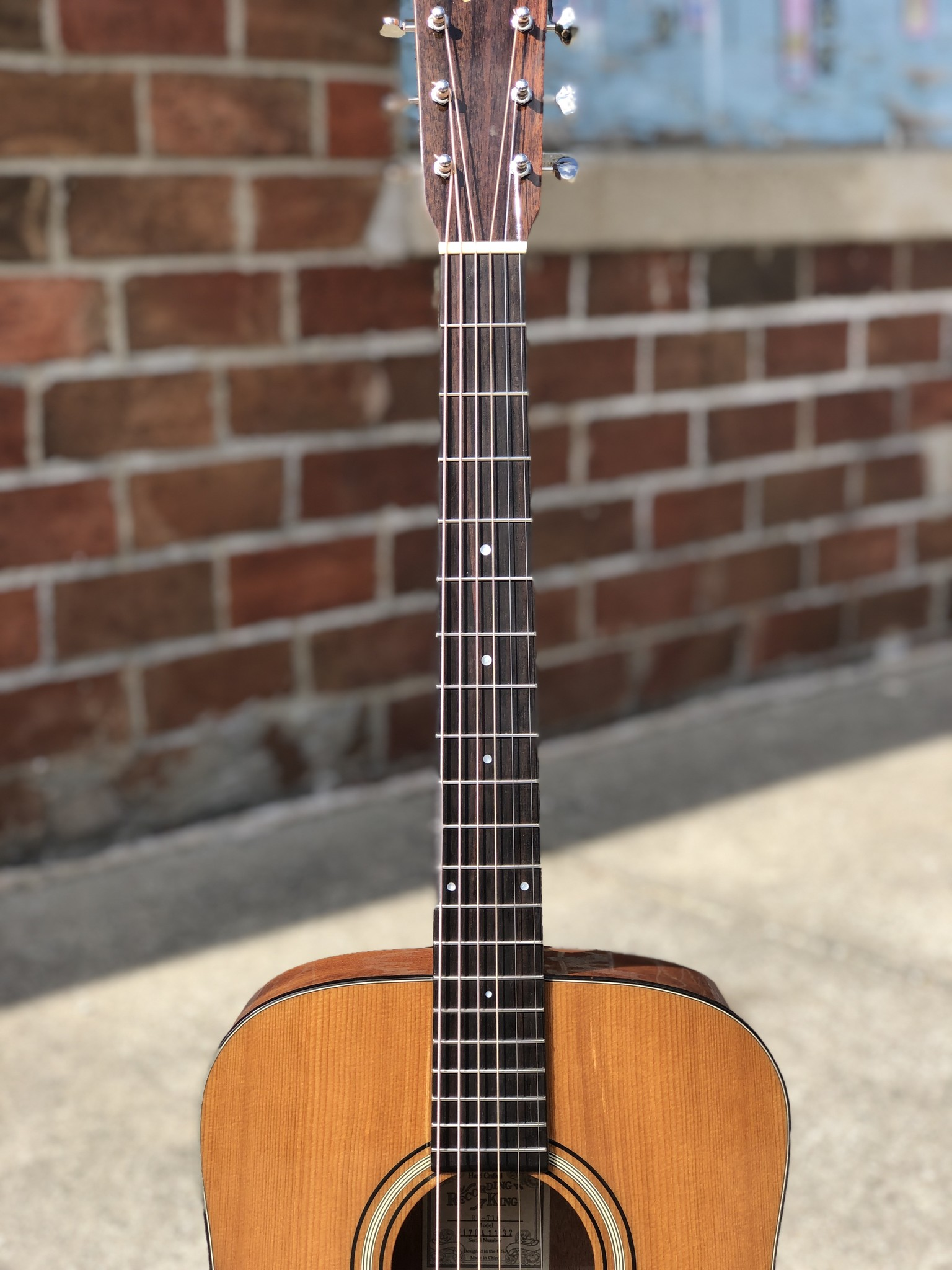 Recording King RD-T16 Torrefied Adirondack Spruce Solid Top Dreadnought-4