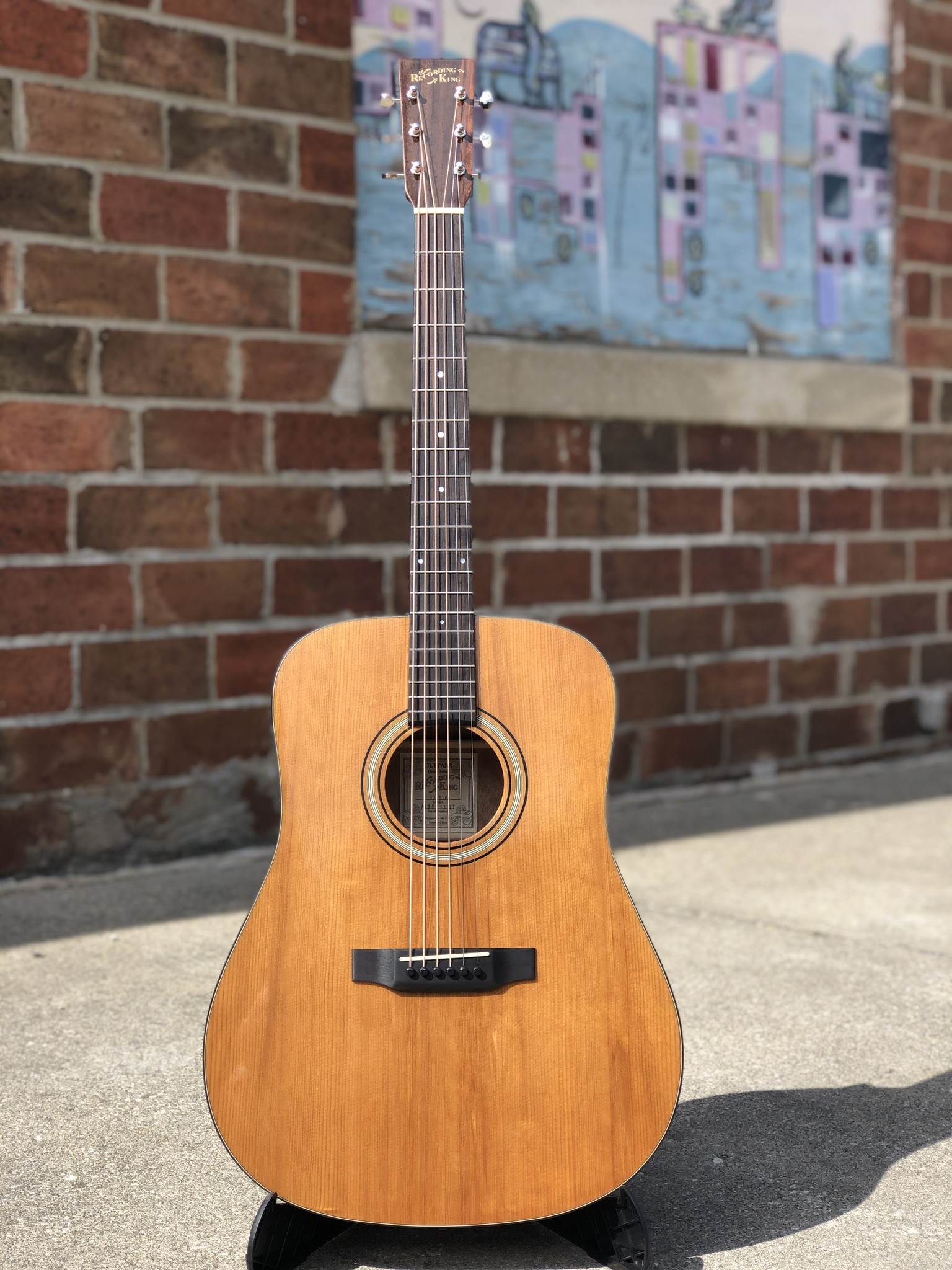 Recording King RD-T16 Torrefied Adirondack Spruce Solid Top Dreadnought-1