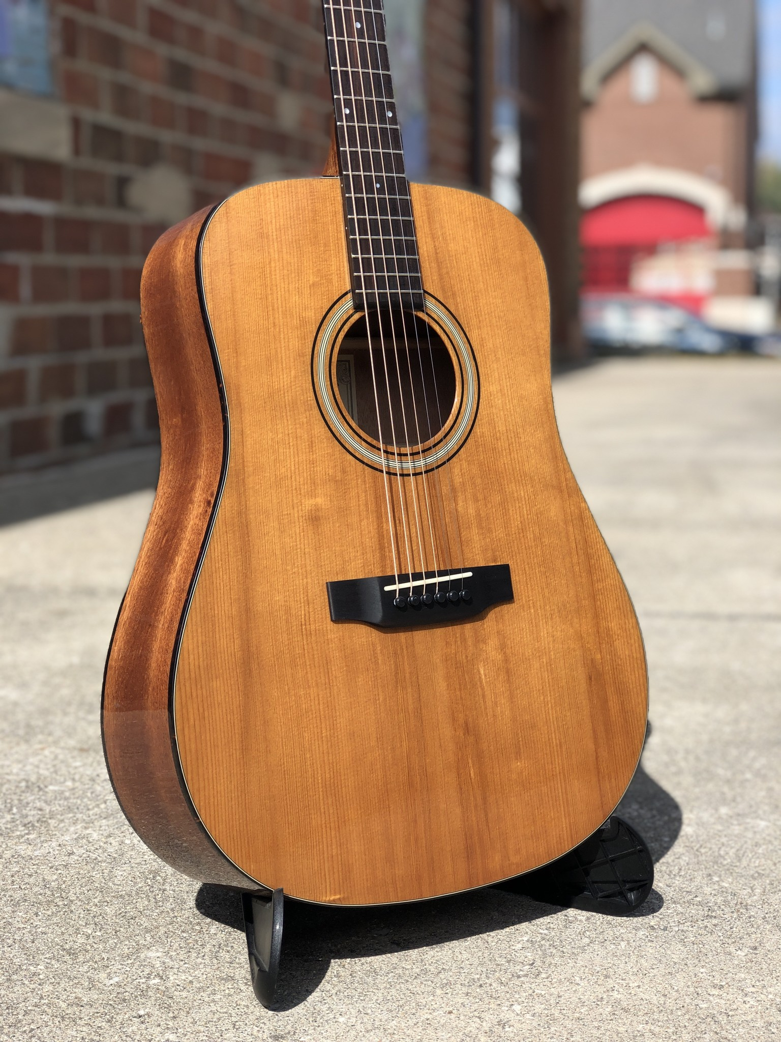 Recording King RD-T16 Torrefied Adirondack Spruce Solid Top Dreadnought-2