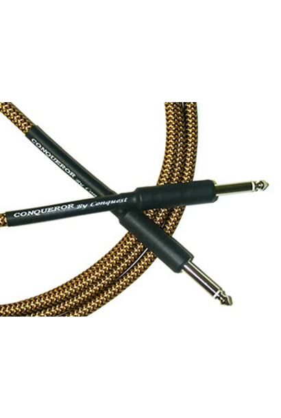 Conquest CIC21-12 Woven Instrument Cable - 21' Str/Str (Tweed)