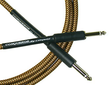 Conquest CIC21-12 Woven Instrument Cable - 21' Str/Str (Tweed)-1