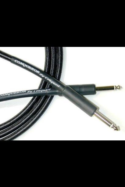 Conquest CIC6-14 Woven Instrument Cable - 6' Str/Str (Black)