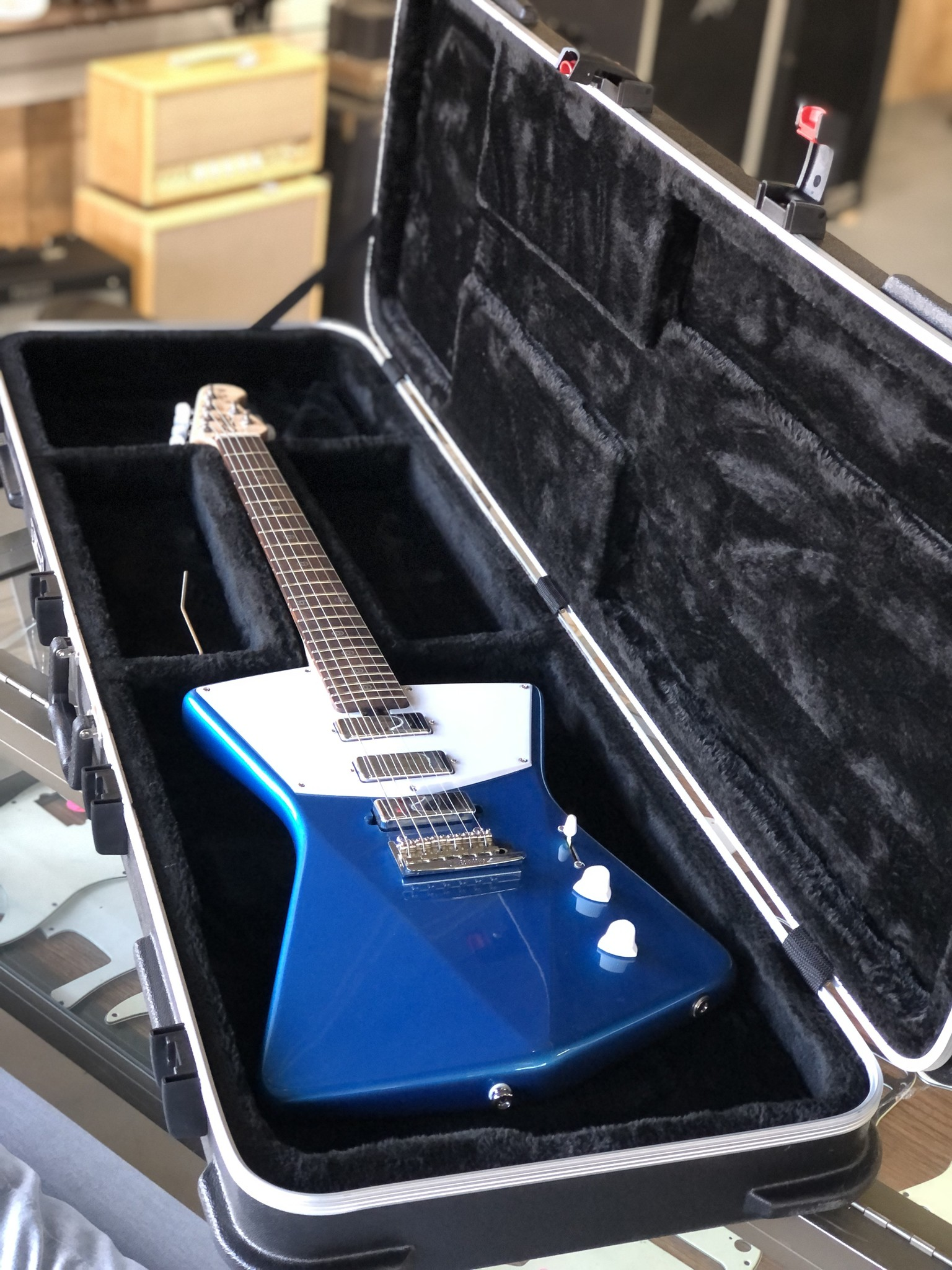 Sterling by Music Man St. Vincent w/ ProRockGear Rect. Bass Case-12