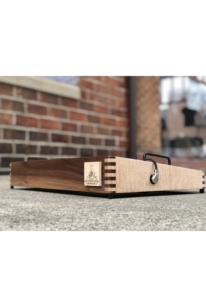 """Indy String Theory Maple/Walnut 24""""x14"""" Pedalboard S/N. 28"""