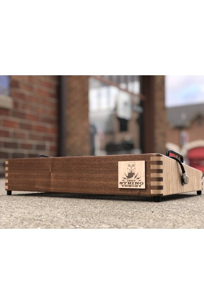 """Indy String Theory 18""""x12"""" Cherry/Maple Pedalboard  S/N. 29"""