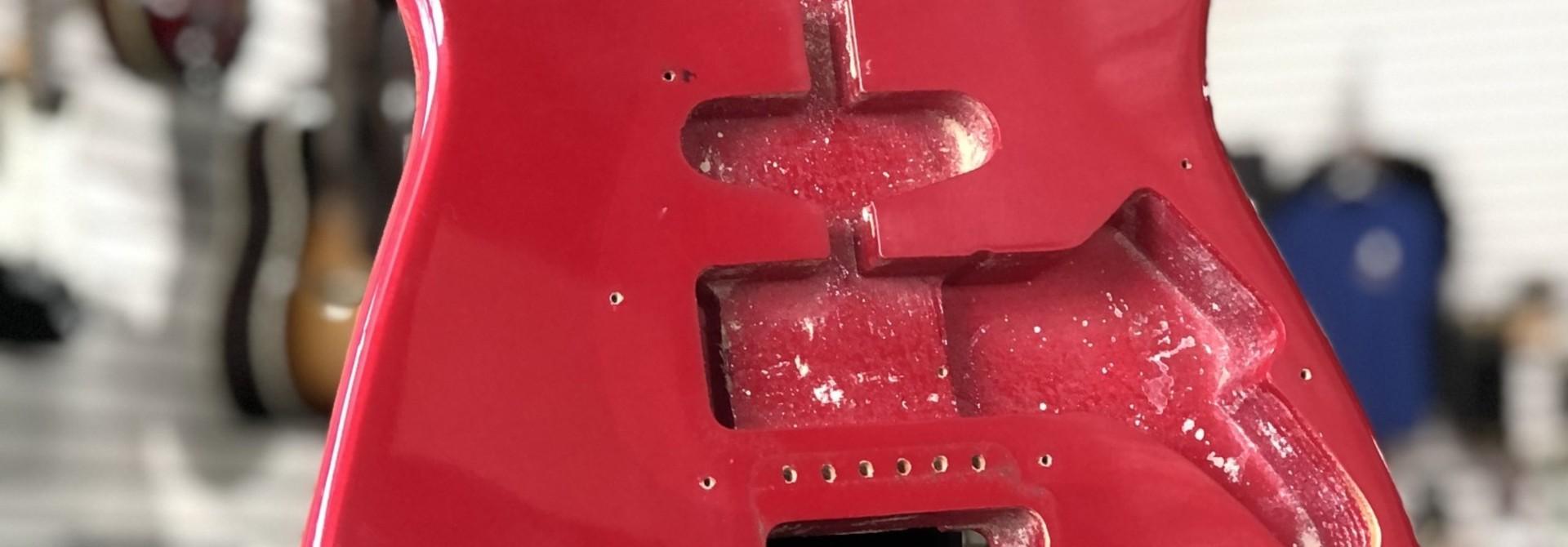 Red Squire Stratocaster Body