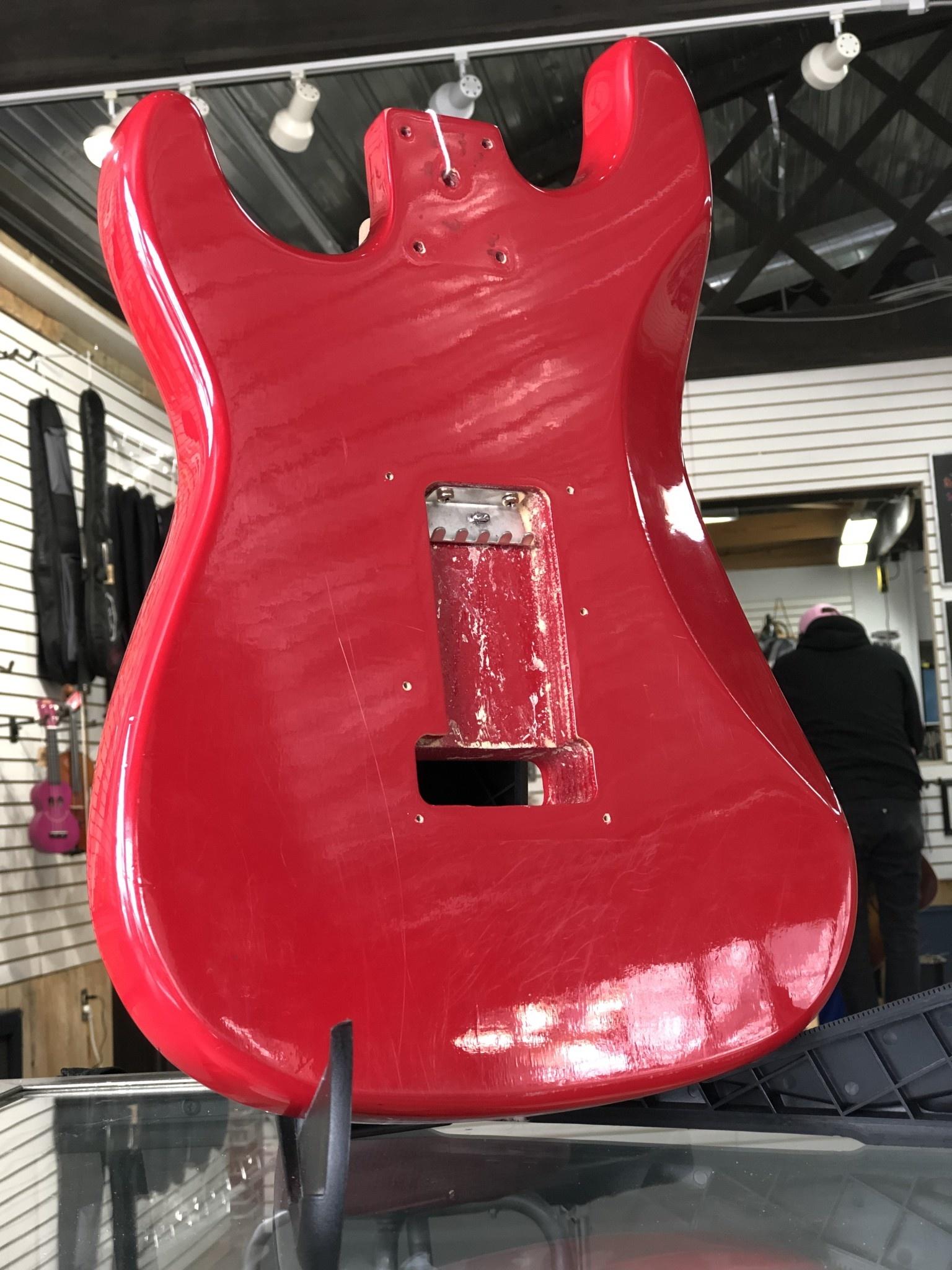 Red Squire Stratocaster Body-2