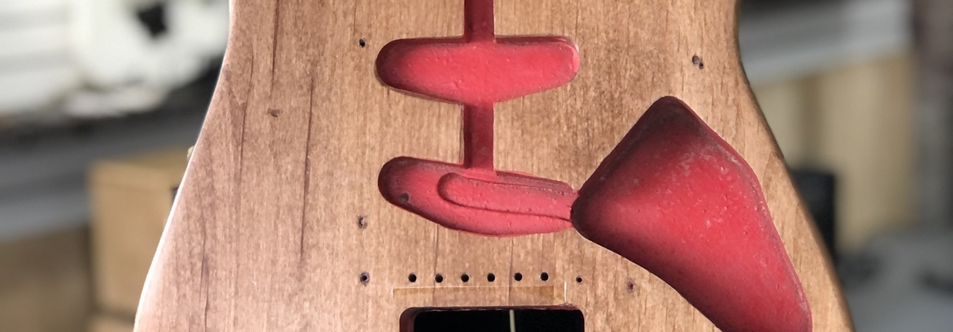 MusicCraft Red Sanded Stratocaster Body