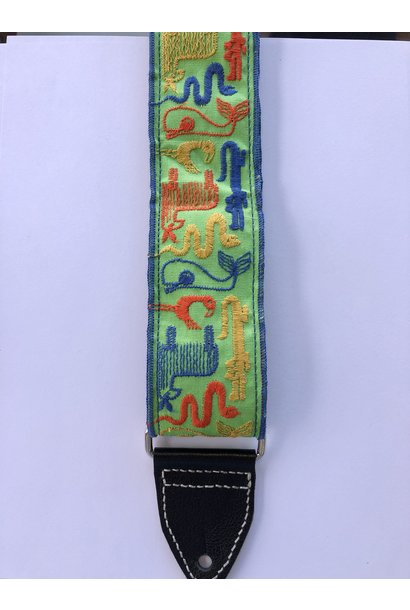 Tremolo Leather Company Stitched Animals Strap