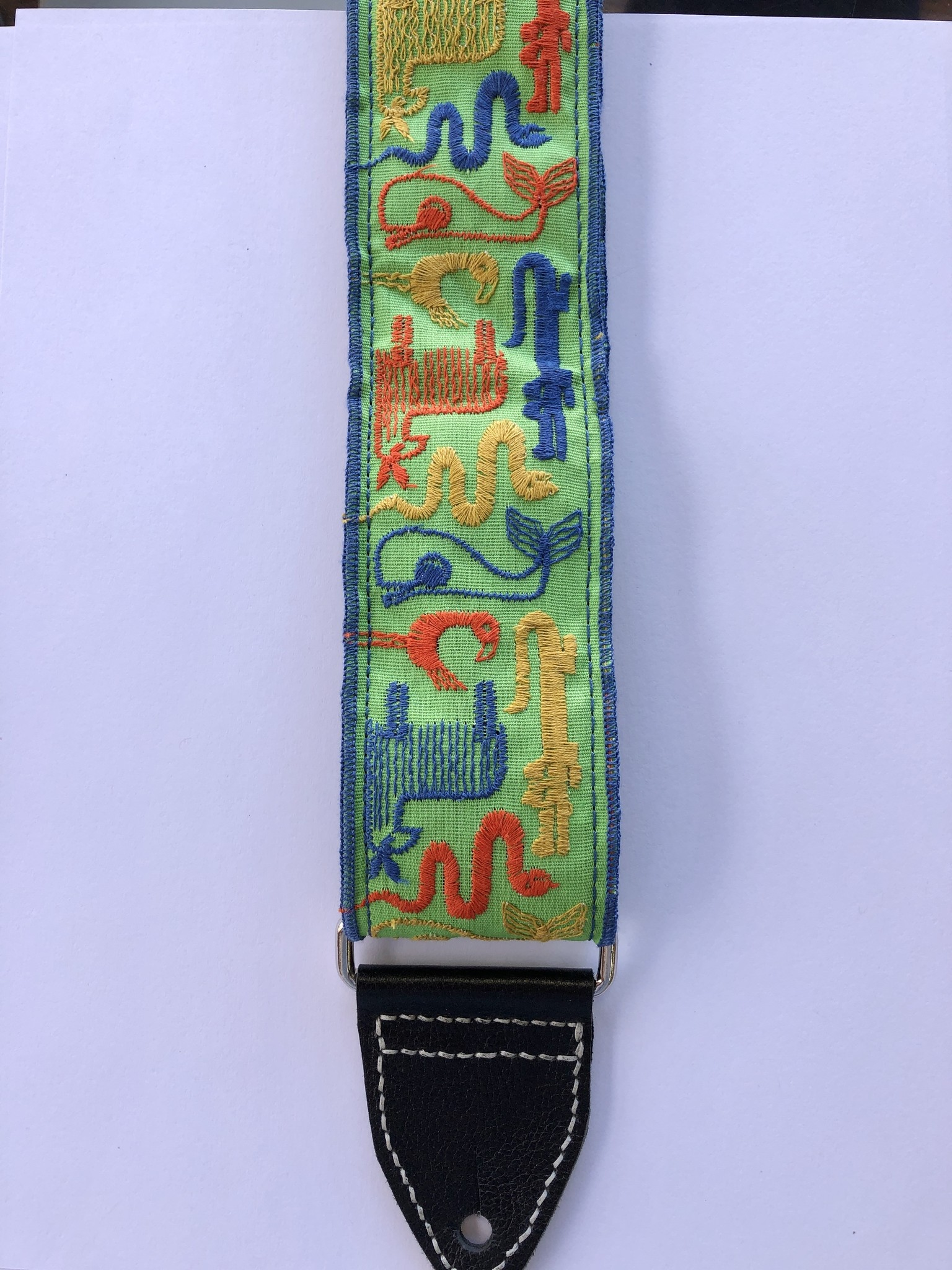 Tremolo Leather Co. Stitched Animals Strap-1