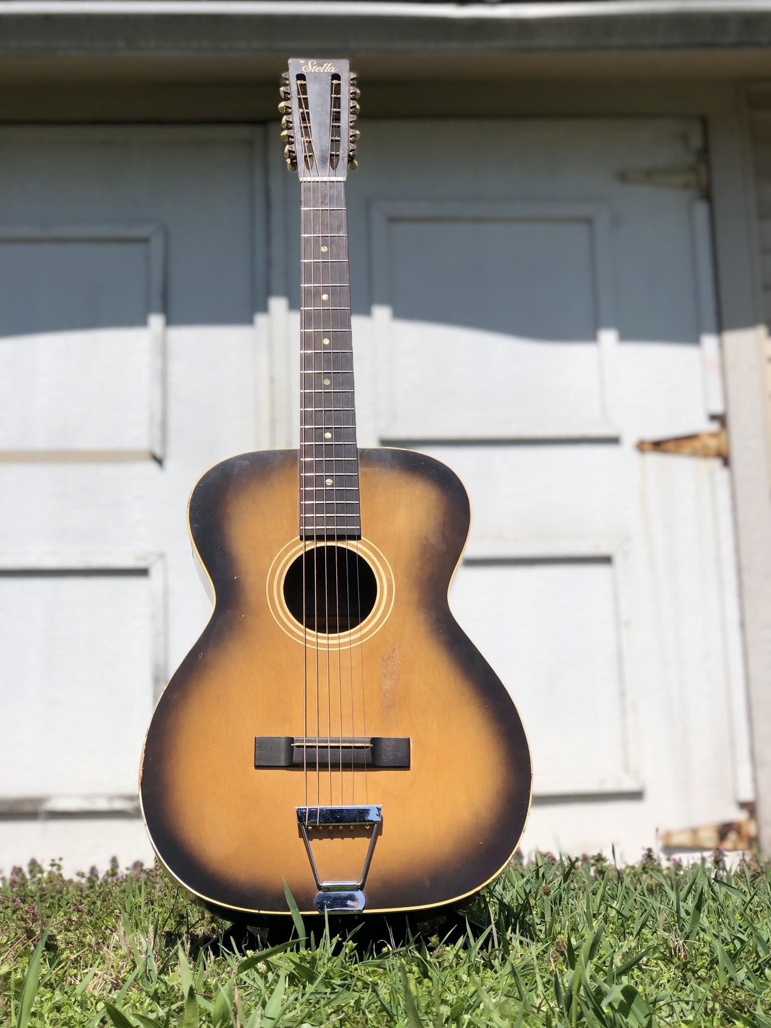1960s Stella 12-string (strung up for 6 string) 7164 H922-1