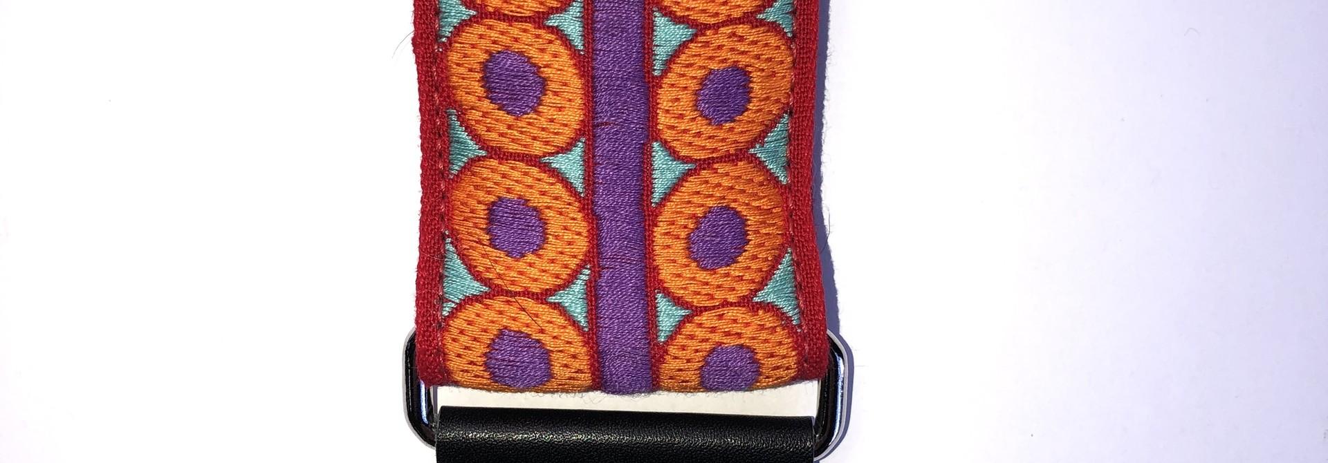 Tremolo Leather Co. Orange Spaghettios Vintage Strap