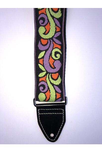 Tremolo Leather Co. Orange/Green Suess Strap