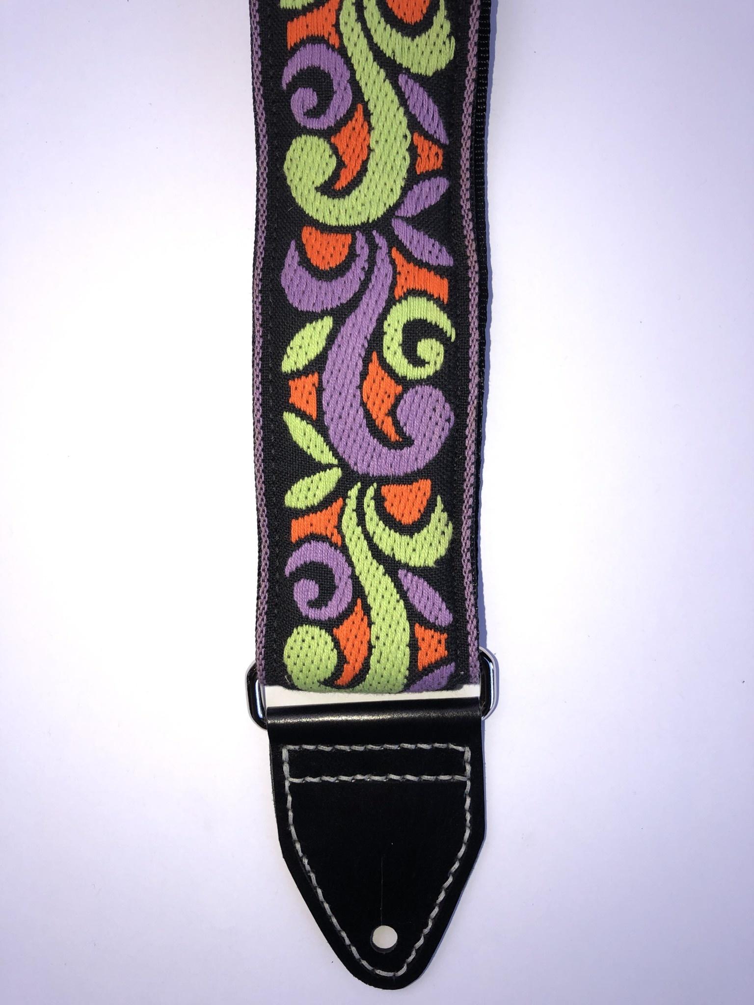 Tremolo Leather Co. Orange/Green Suess Strap-1