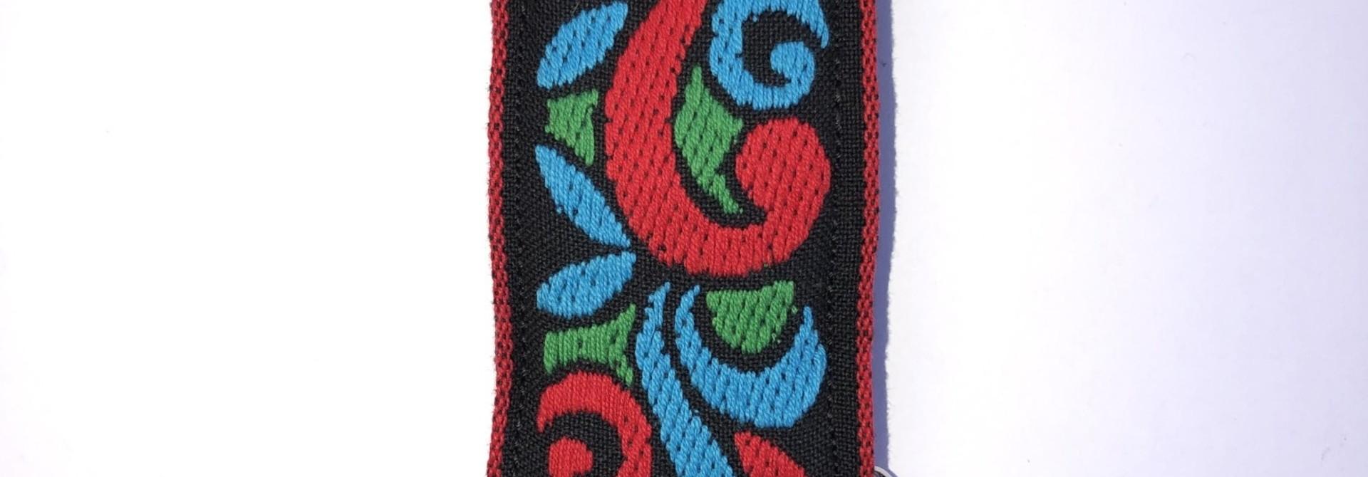 Tremolo Leather Co. Red/Blue Suess Strap