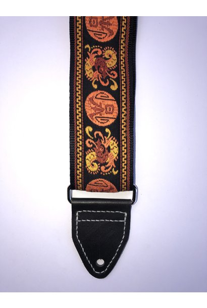 Tremolo Leather Co. Orange Dragon Strap