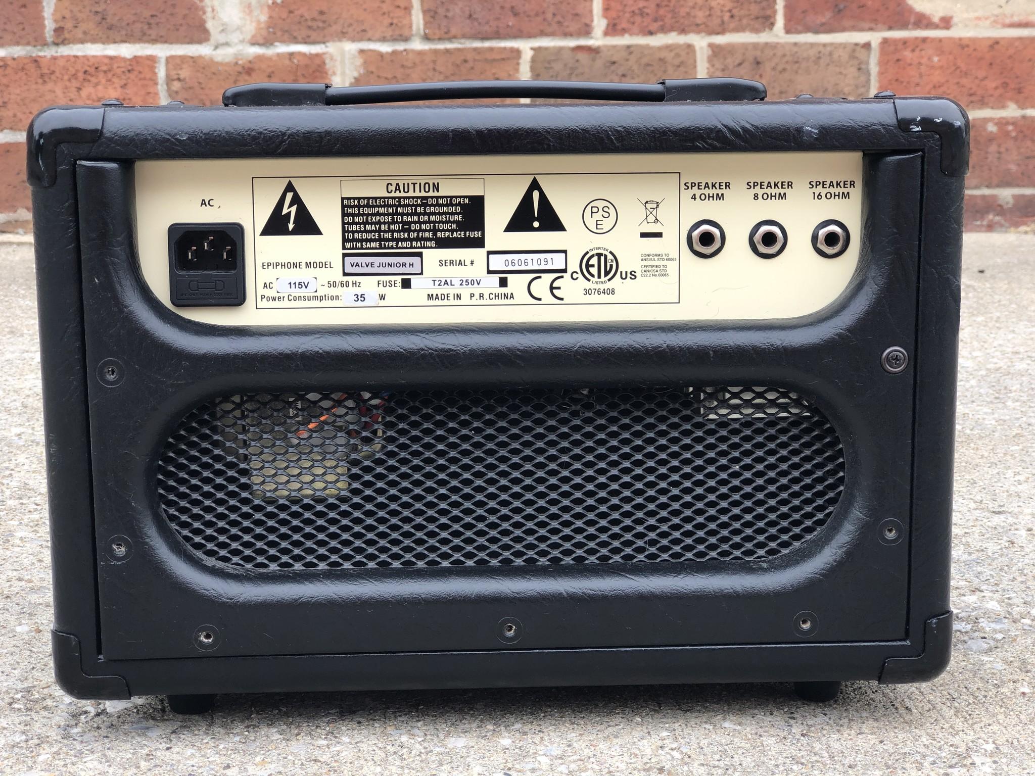 Epiphone Valve Junior Amp Head-4