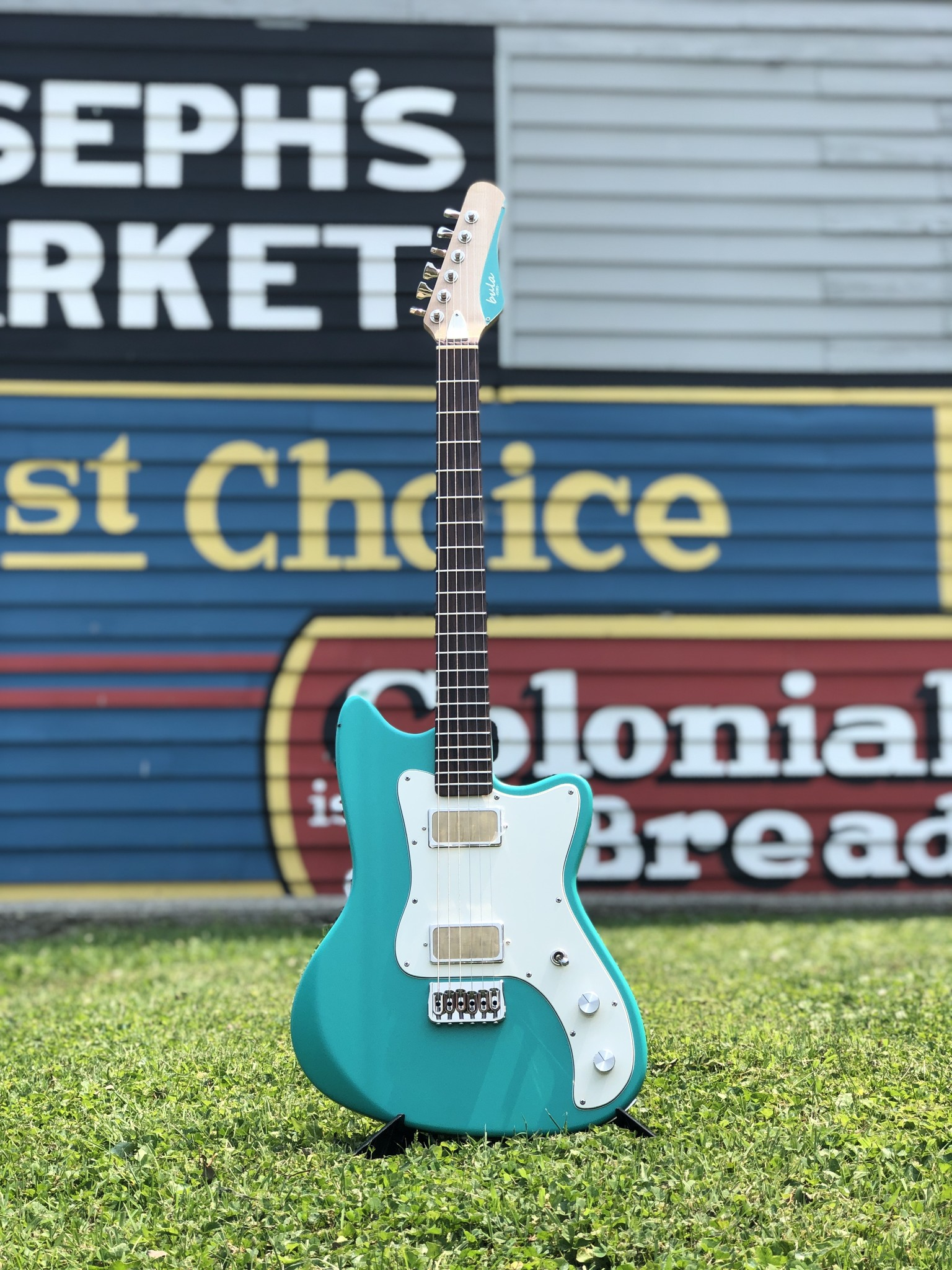 Bula Custom Guitars - Astro - Satin Sea Green-1