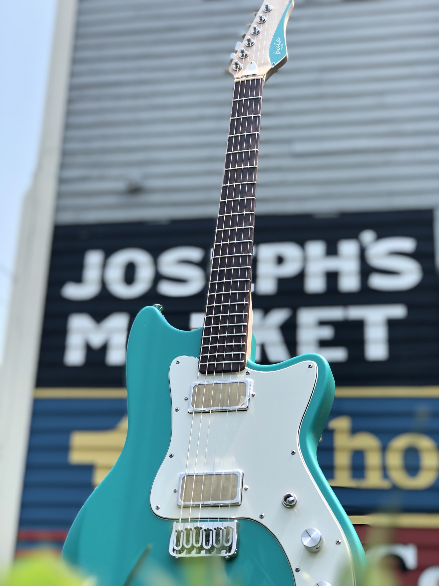 Bula Custom Guitars - Astro - Satin Sea Green-3
