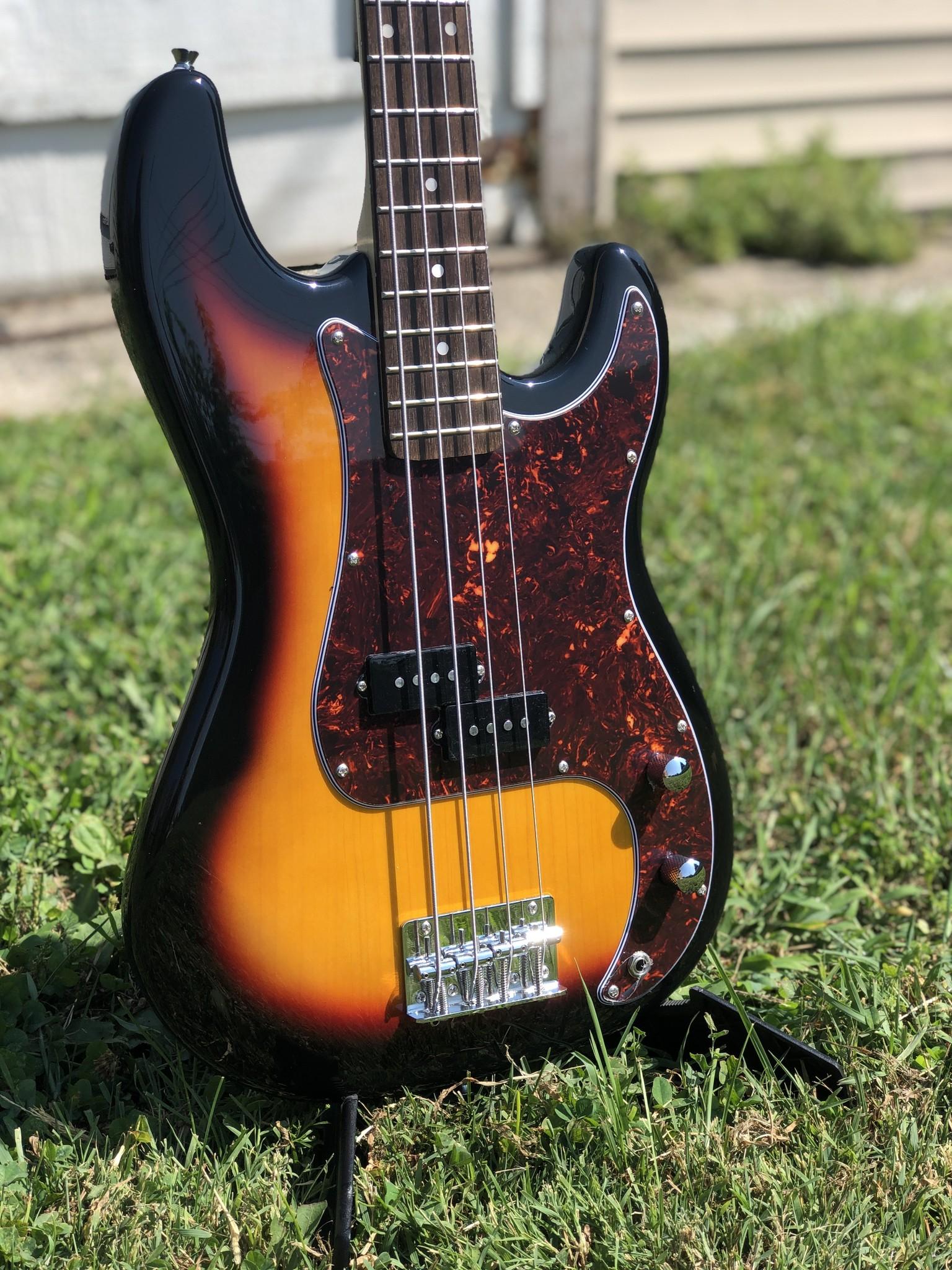 Nashville Guitar Works Sunburst Electric P Bass-2