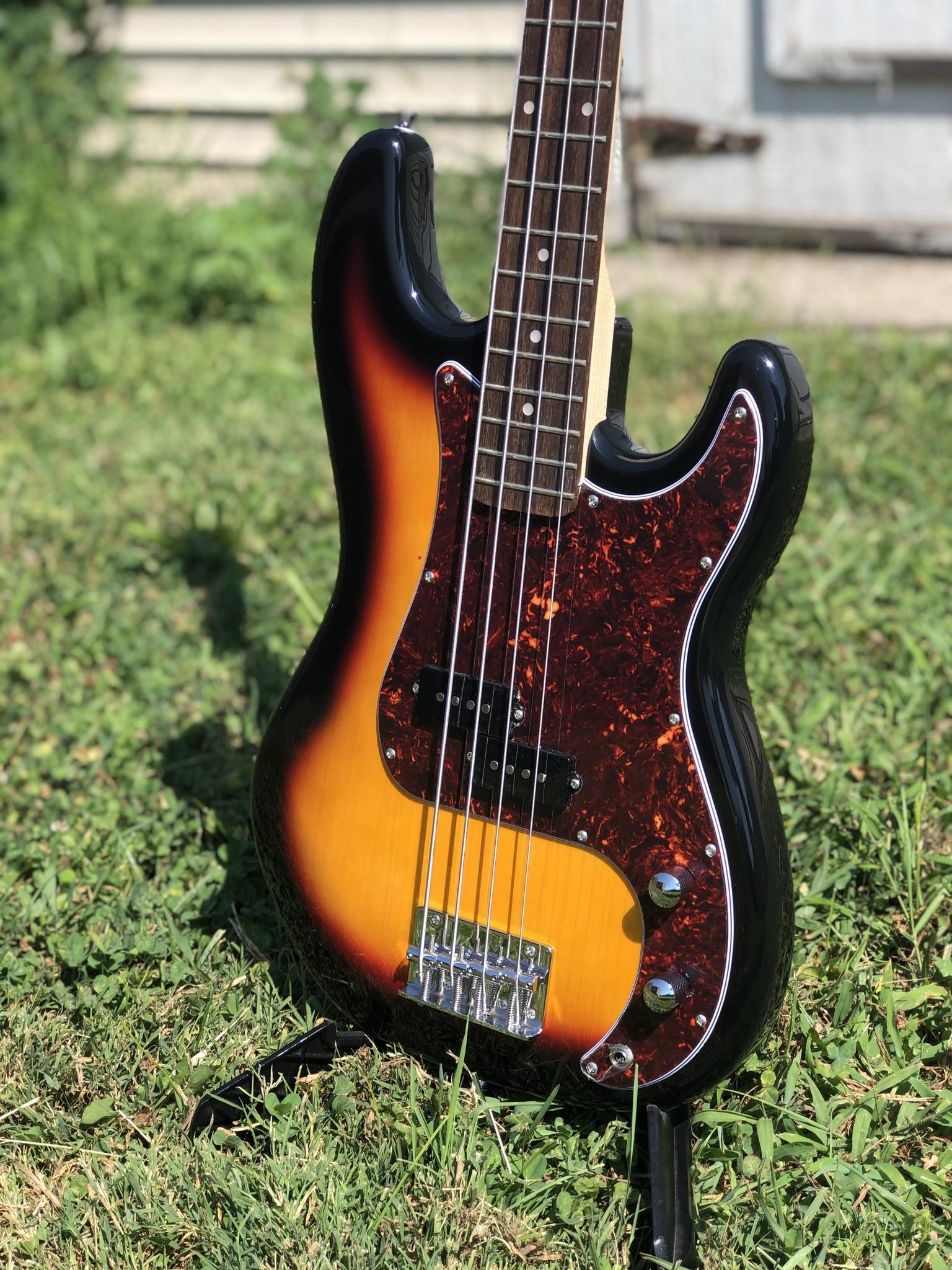 Nashville Guitar Works Sunburst Electric P Bass-3