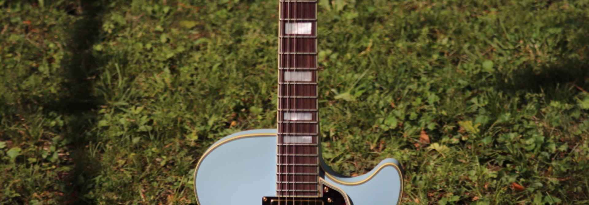 D'Angelico Deluxe DLX-SSTP Semi-Hollow - Powder Blue