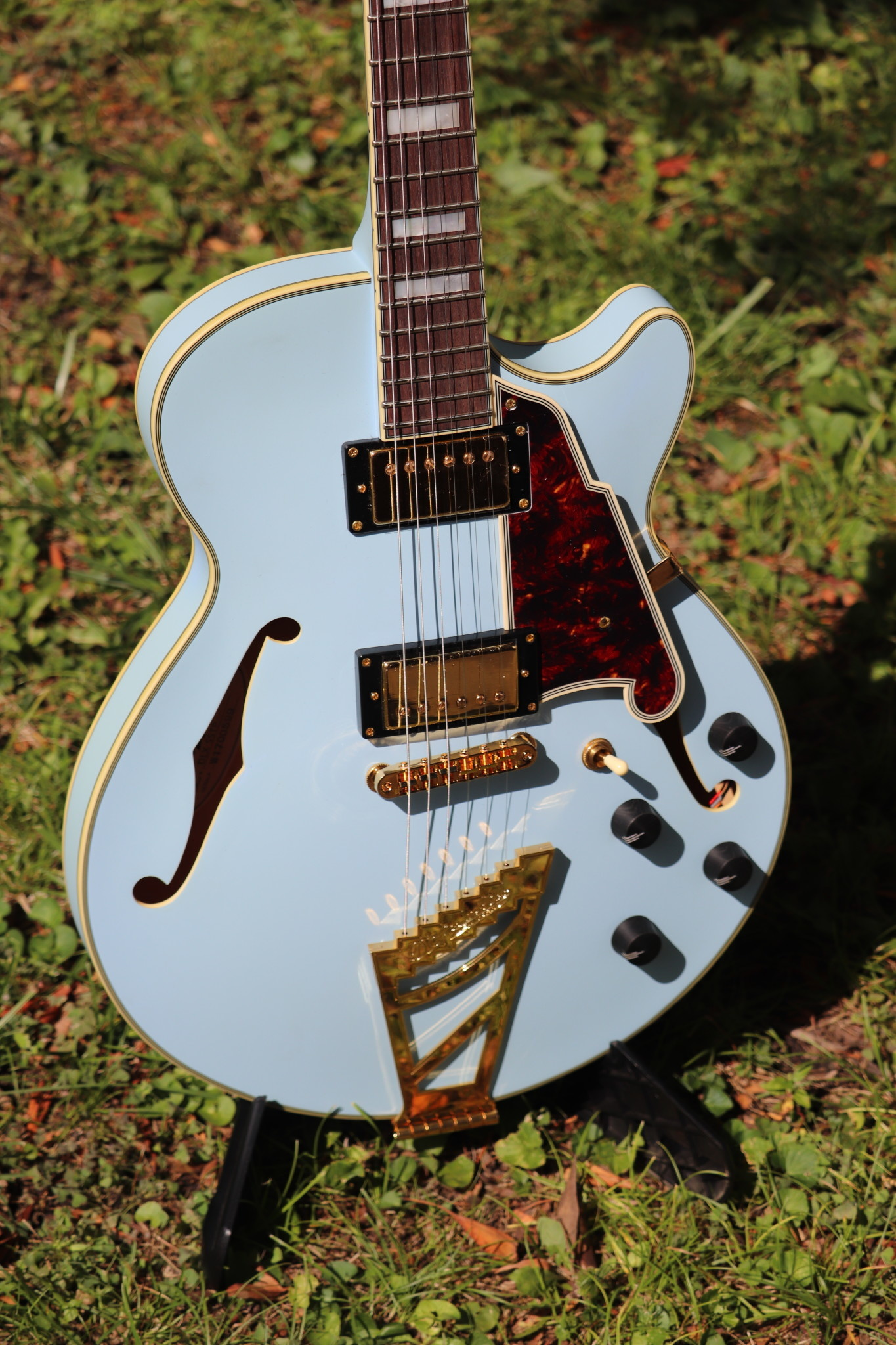 D'Angelico Deluxe DLX-SSTP Semi-Hollow - Powder Blue-2