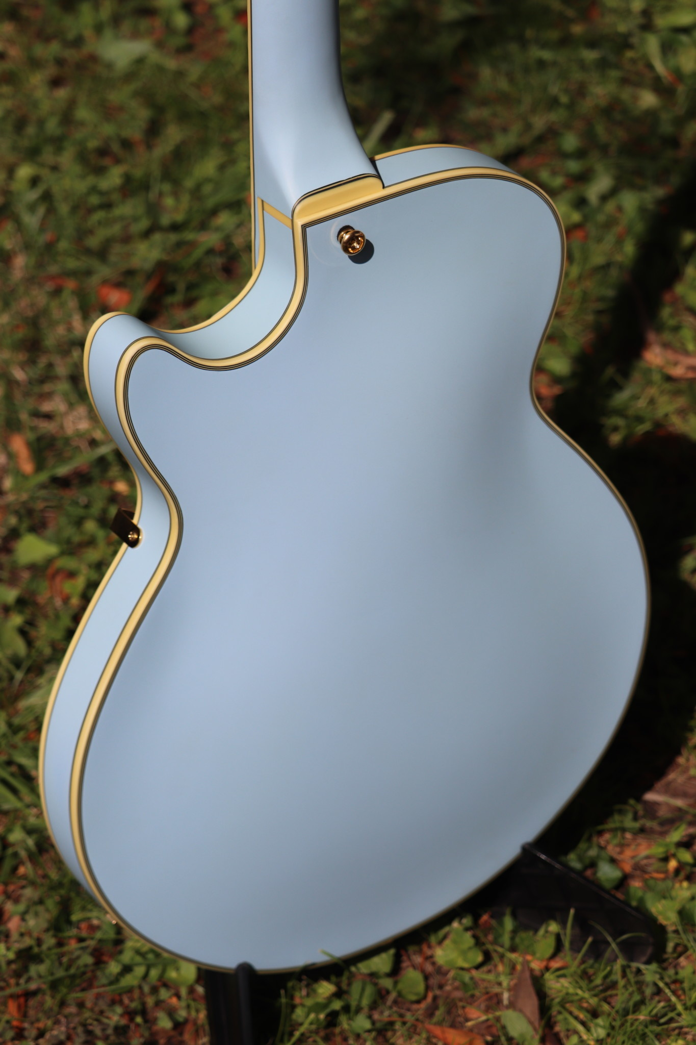 D'Angelico Deluxe DLX-SSTP Semi-Hollow - Powder Blue-5