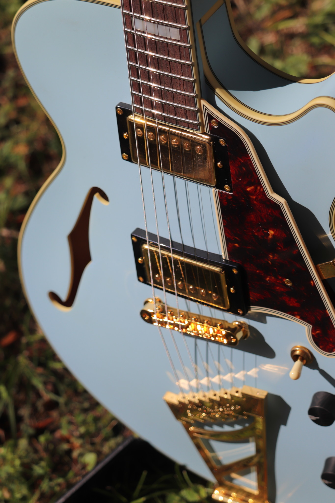 D'Angelico Deluxe DLX-SSTP Semi-Hollow - Powder Blue-6