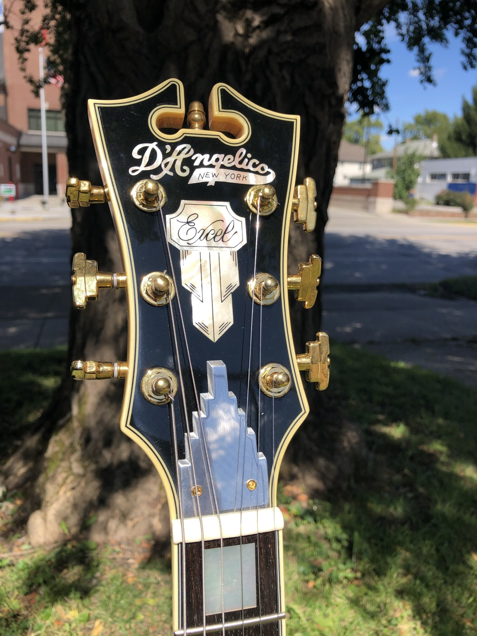 D'Angelico Excel EX-DC Semi-Hollow - Natural-5