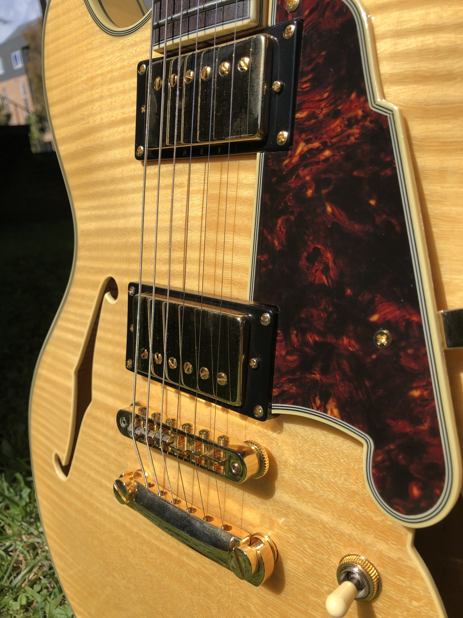 D'Angelico Excel EX-DC Semi-Hollow - Natural-4