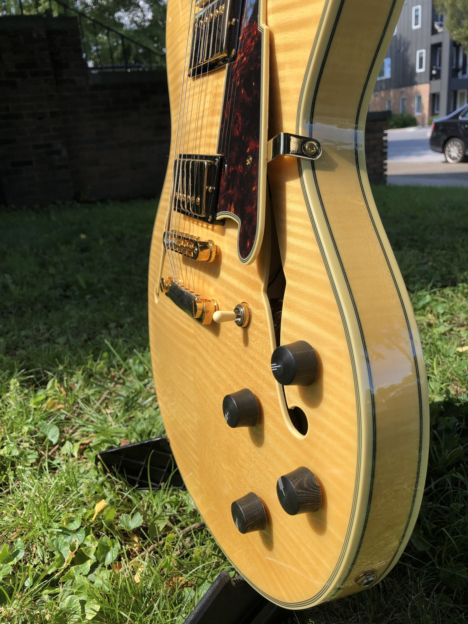 D'Angelico Excel EX-DC Semi-Hollow - Natural-3