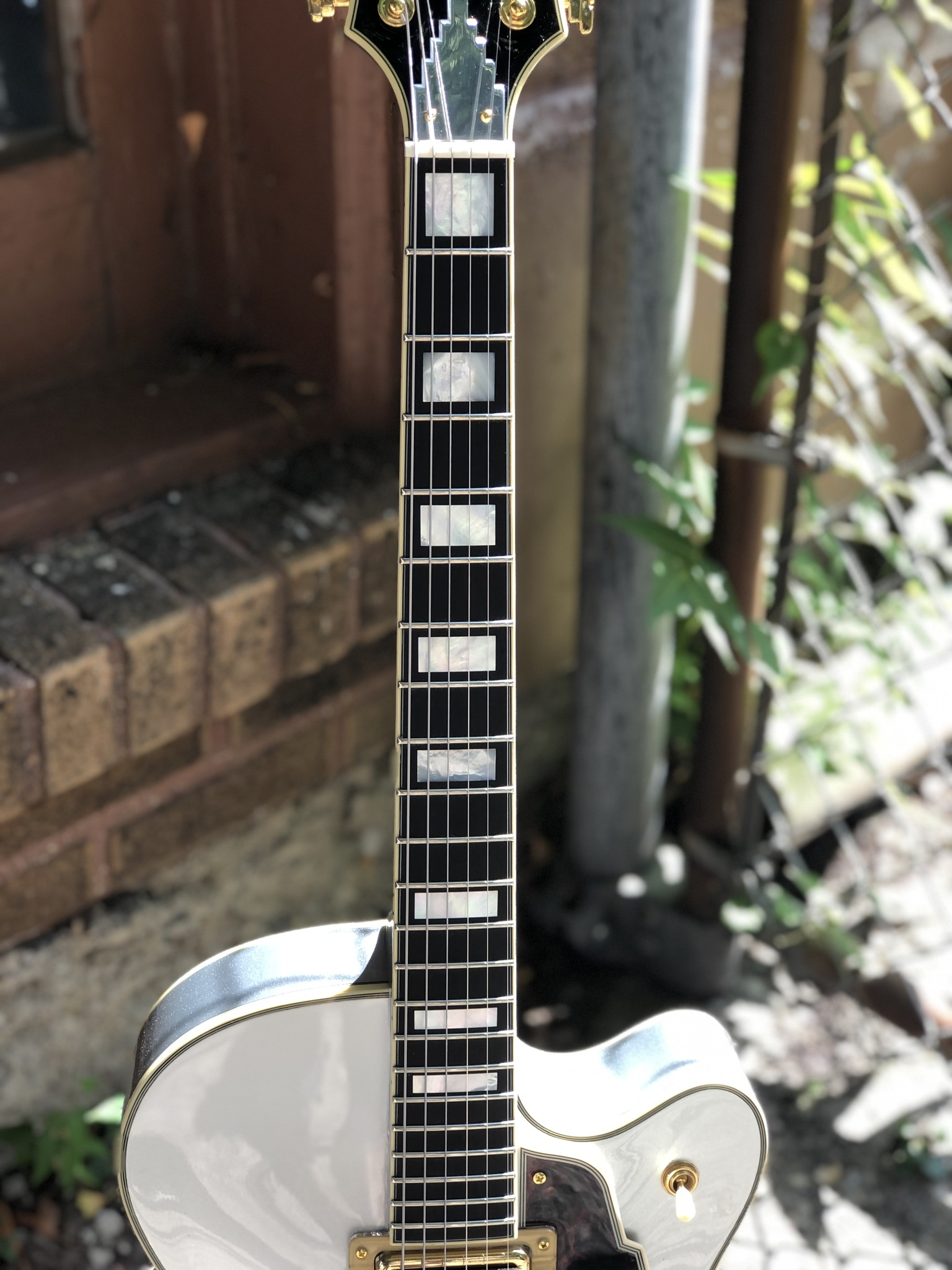 D'Angelico Deluxe DLX-175 Hollowbody - Silver-6