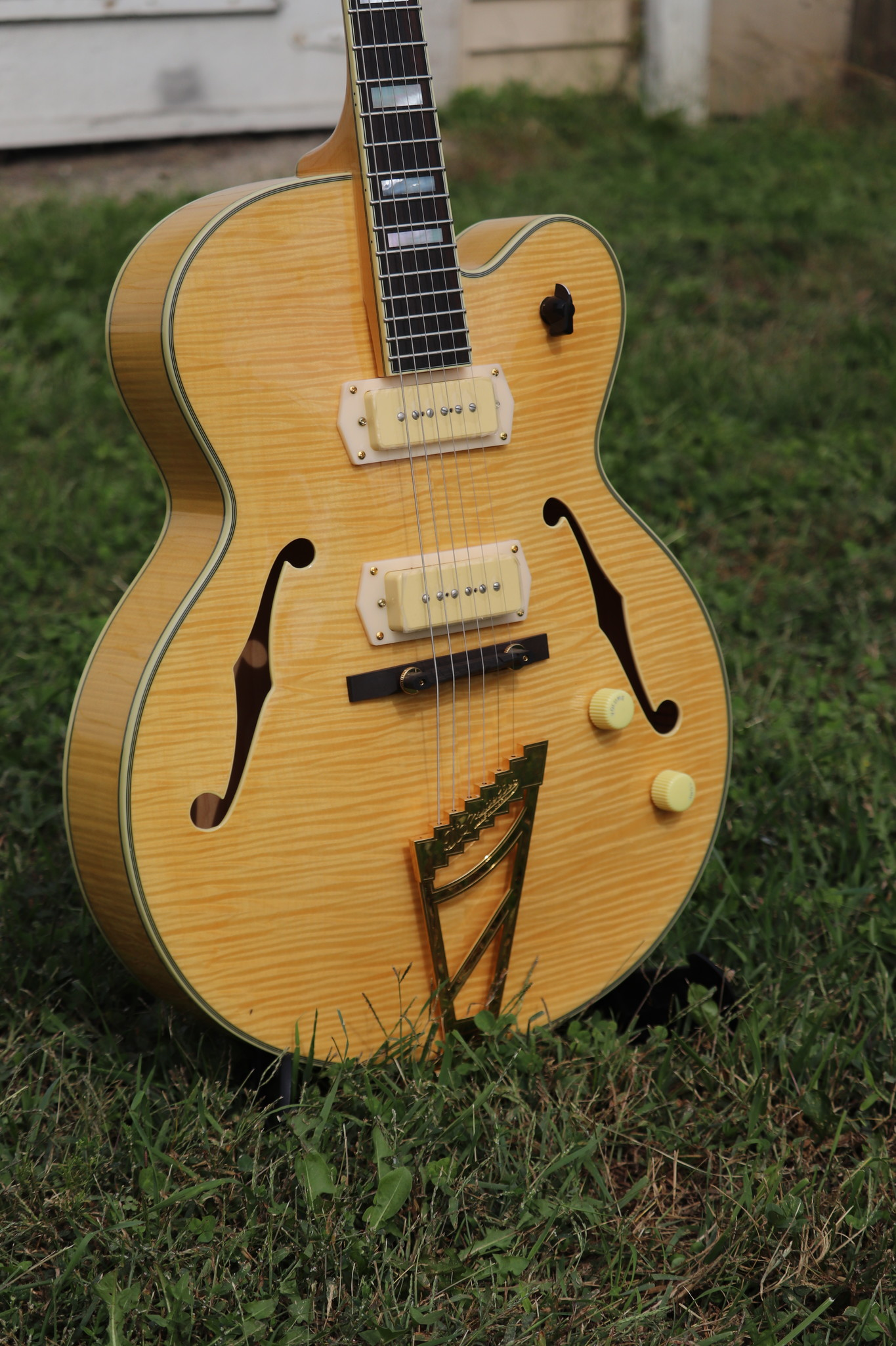 D'Angelico Excel EX-59 Hollowbody - Natural-2