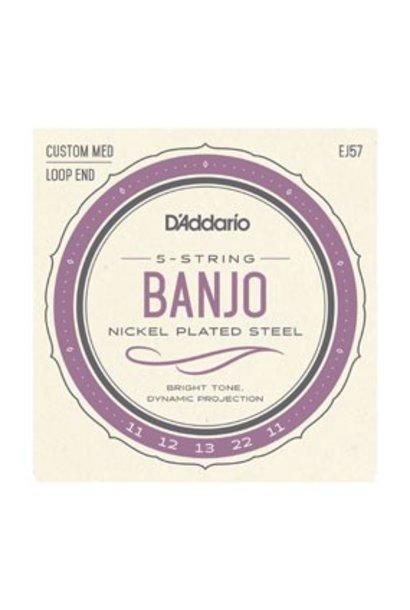 EJ57 5-String Banjo, Nickel, Custom Medium, 11-22