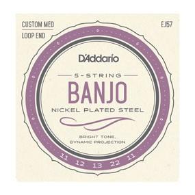 EJ57 5-String Banjo, Nickel, Custom Medium, 11-22-1