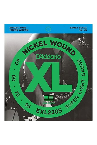 EXL220S Nickel Wound Bass, Super Light, 40-95, Short Scale
