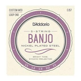 EJ57 5-String Banjo, Nickel, Custom Medium, 11-22-2